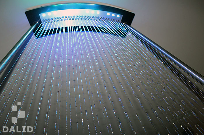 Glycerine waterfalls with LED backlight